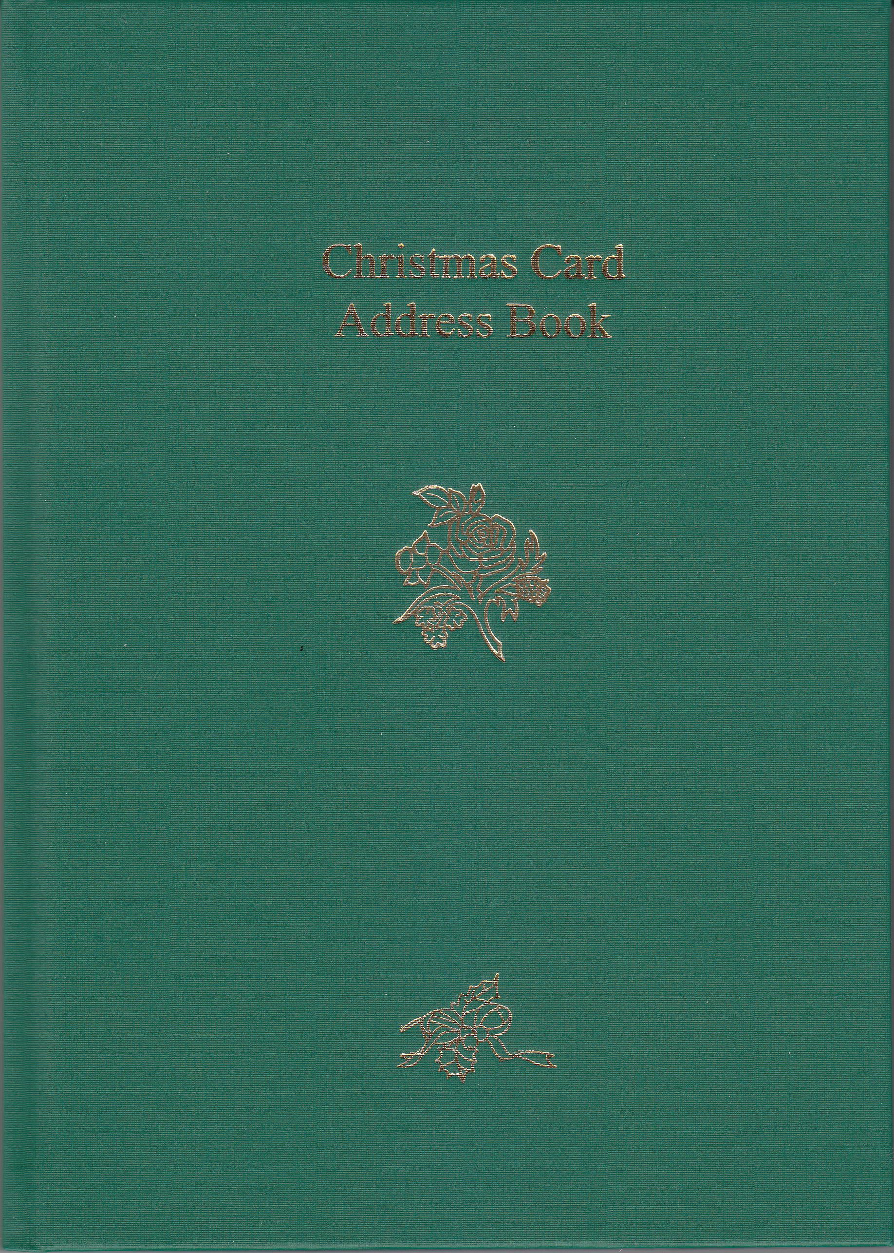 ADDRESS002-Xmas-Address-book-Greeen